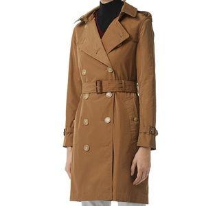 BURBERRY Kensington Camel Taffeta Trench Coat
